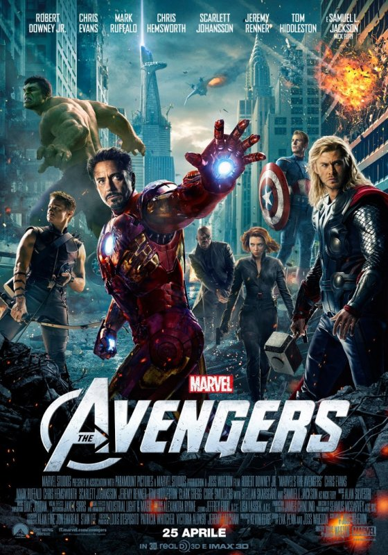 Poster del film The Avengers in 3D